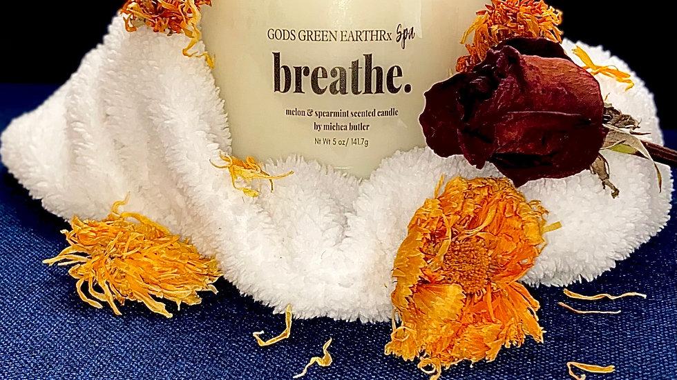 "Breathe  ""Melon & Spearmint""  candle (handmade)"