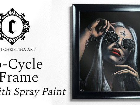 Up-Cycle a Basic Frame with Spray Paint