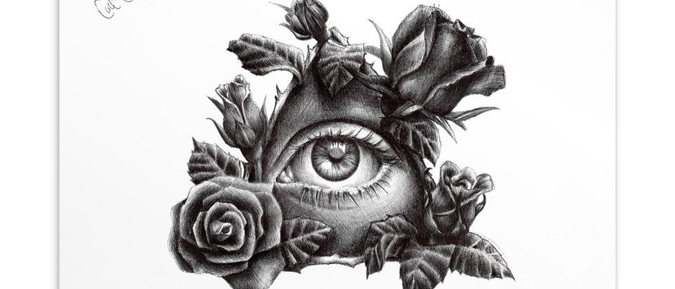 "Eye See Roses   4x6"" Postcard Print"