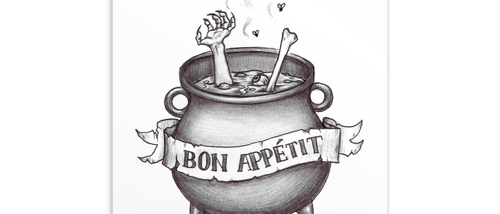 "Bon Appétit | 4x6"" Postcard Print"