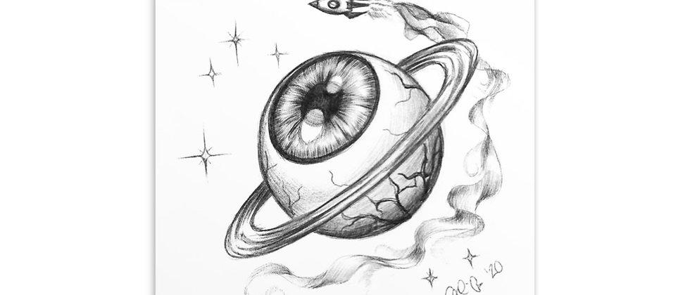 "Planet Eyeball   4x6"" Postcard Print"