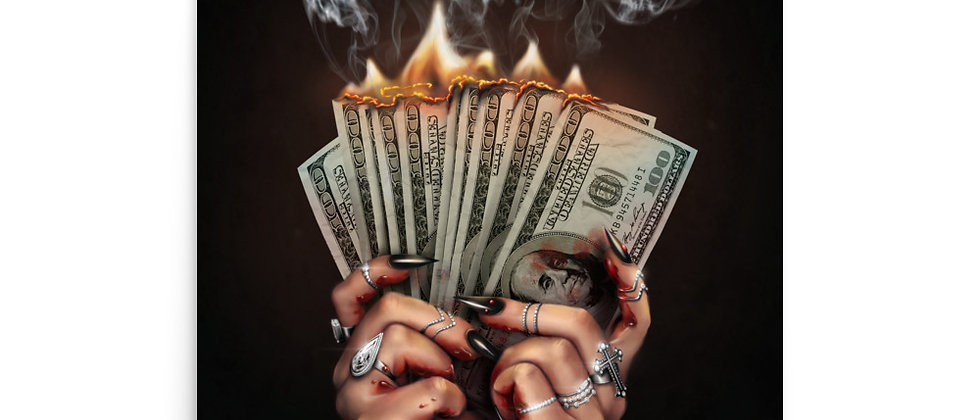 "DIRTY MONEY | 16x20"" Large Art Print"