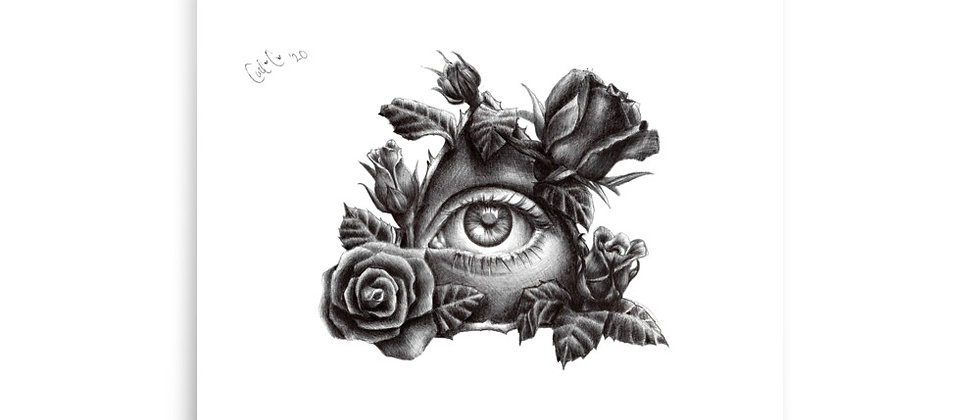 "Eye See Roses | 8"" x 10 "" Small Art Print"