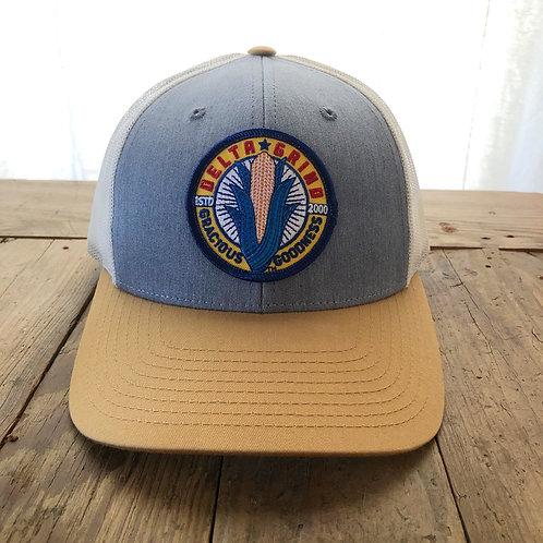 Delta Grind Hat - White/Gold
