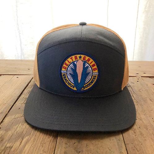 Delta Grind Hat - Charcoal/Gold