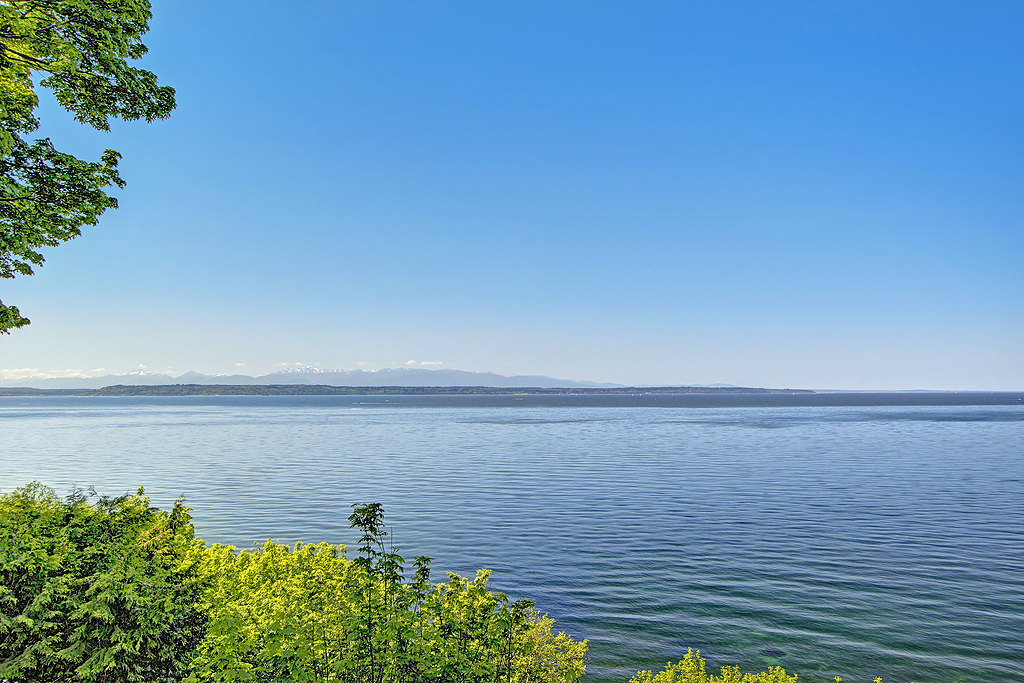 High Bank Waterfront Lot in Edmonds