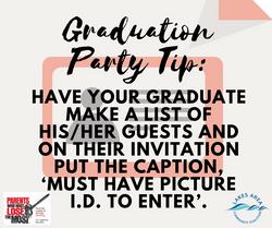 Graduation Party Tip3