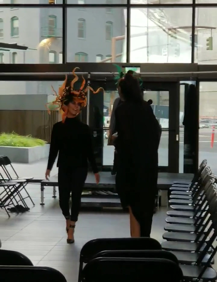 BTS in Taste of Style PDX 2019 walking for Tracy Shulz at One Main Place in Portland.