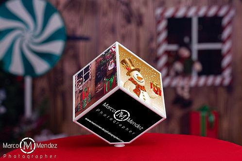 Cubo rotativo 10x10 personalizado com 6 fotografias