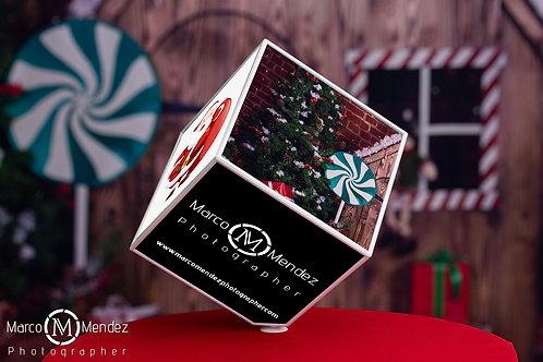 Cubo rotativo 15x15 personalizado com 6 fotografias