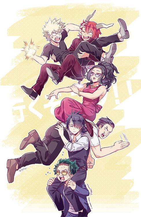 """11x17"""" Poster✩MHA - Bakugou Rescue Squad"""