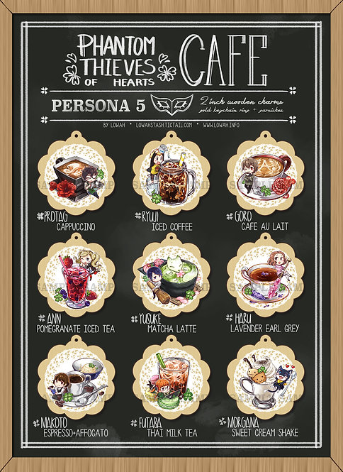 """11x17"""" Poster✩Phantom Thieves of Hearts CAFE"""