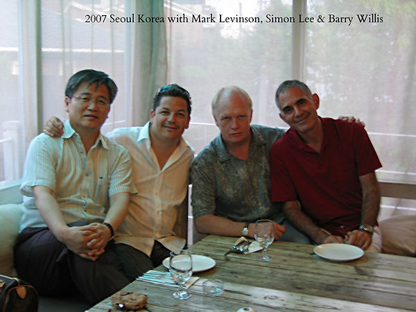 Mike Powell with Mark Levison, Simon Lee, and Barry Willis