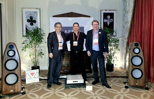 imon, Mike and Jurgen in front of the $128,000.00 system at CES 2013.