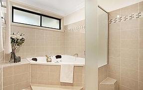 Main bathroom renovation with spa