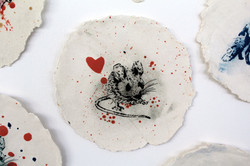 Mouse Paperclay Print