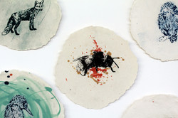 Bee Paperclay Print
