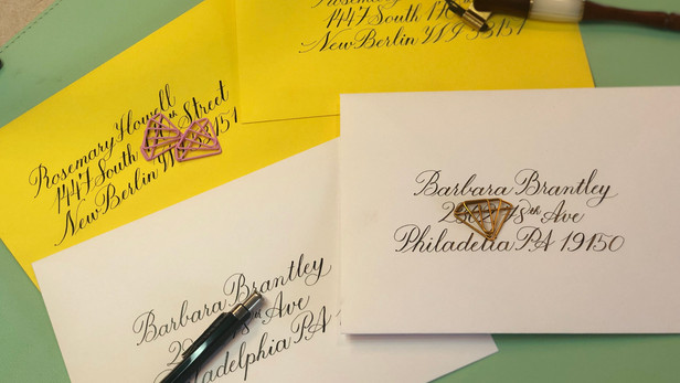 First Copperplate Envelopes