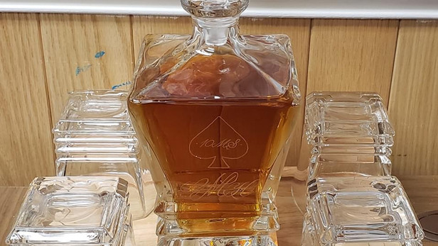 Engraved Decanter From the Client's View