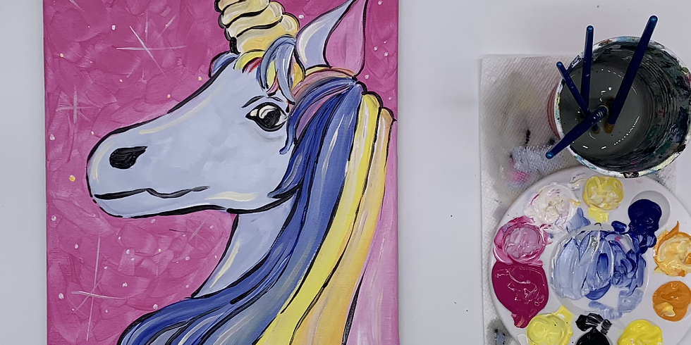 Unicorn Step-by- step Canvas Painting