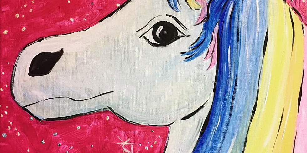 LIVE Step-by- step Unicorn Canvas Painting Class