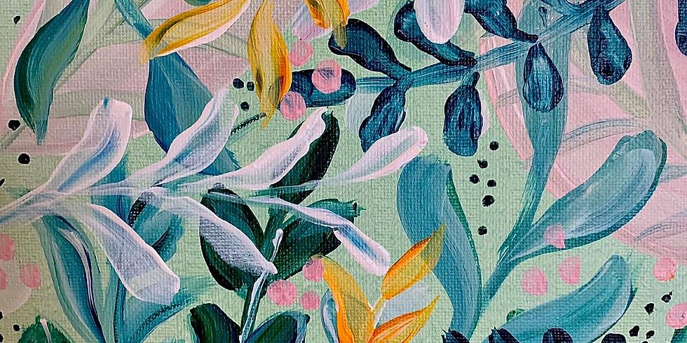 LIVE Jungle Plants Painting Class