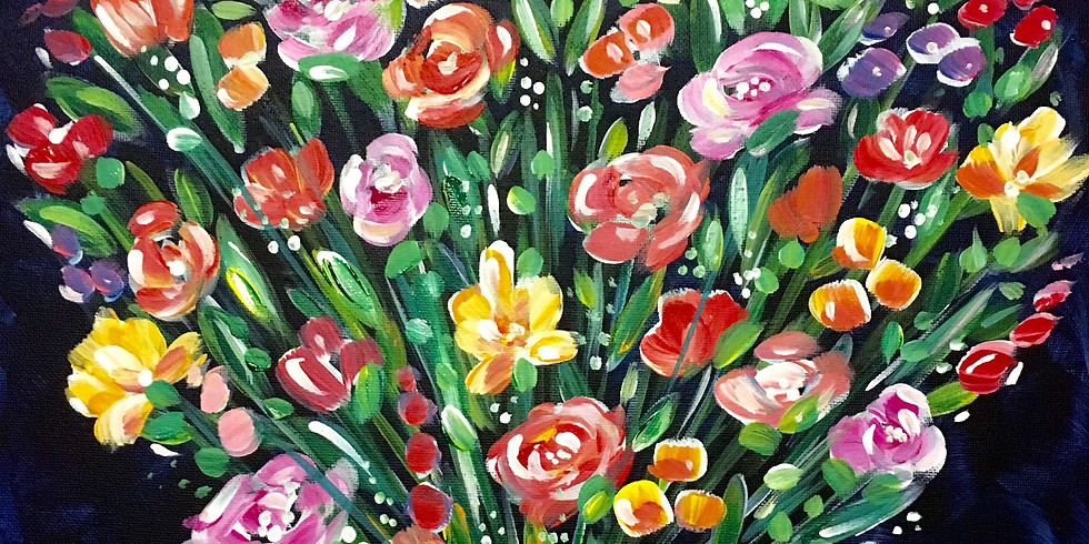 LIVE Guided Floral Heart Painting