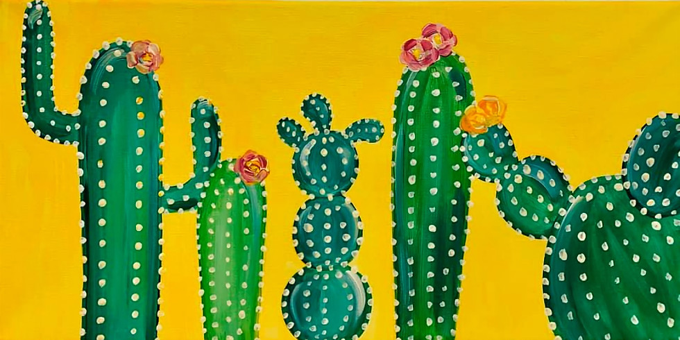 Live Step-By-Step Cactus Painting Class