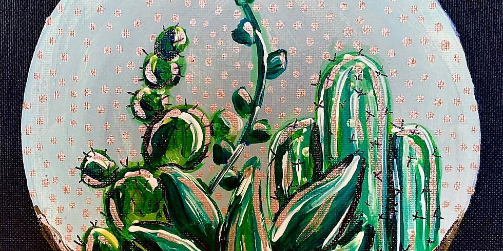 LIVE Succulents Painting Class