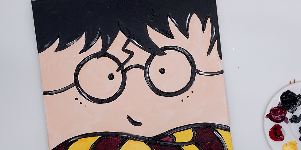 Virtual Harry Potter Step-by- step Canvas Painting Class