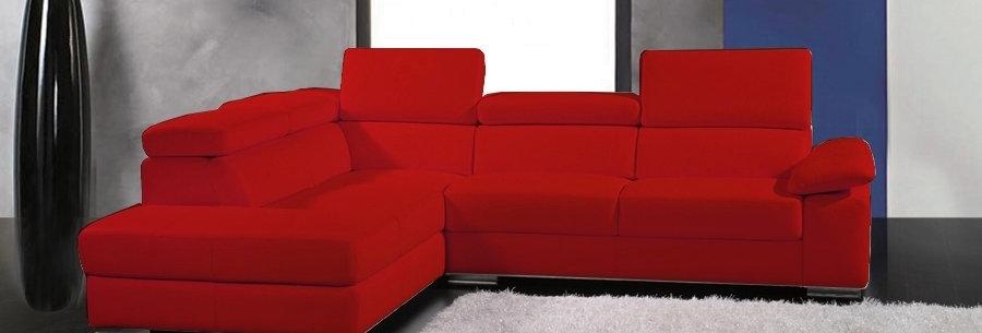 Canapé d'angle en cuir italien 5 places HELIOS, angle gauche