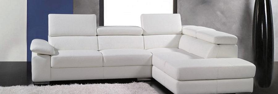Canapé d'angle en cuir italien 5 places HELIOS, angle droit