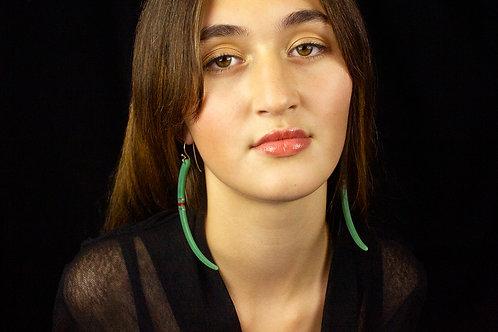 Niho Earring - green & red