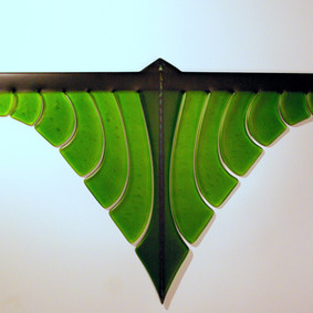 contemporary maori glass art maori design kiln fused glass wall hung