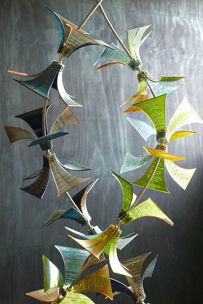 Chandalier, hanging glass sculpture at Devonport Library.