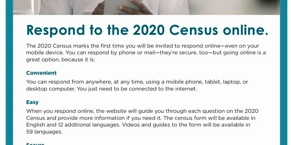 Respond To the 2020 Census Now