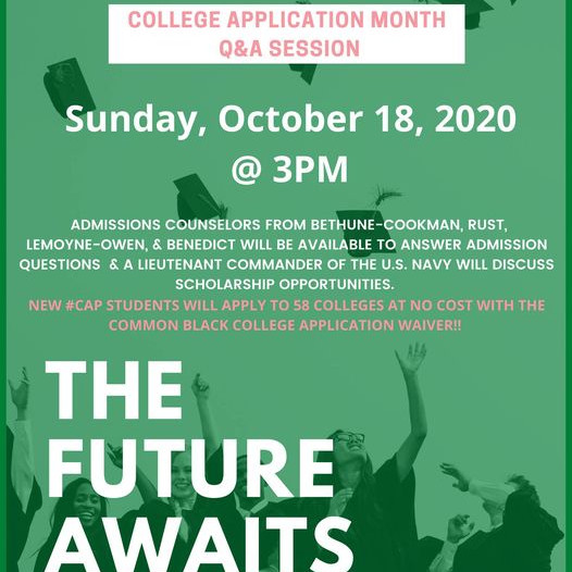 OCTOBER 18TH-COUNSELING AND SCHOLARSHIP OPPORTUNITIES-CAP