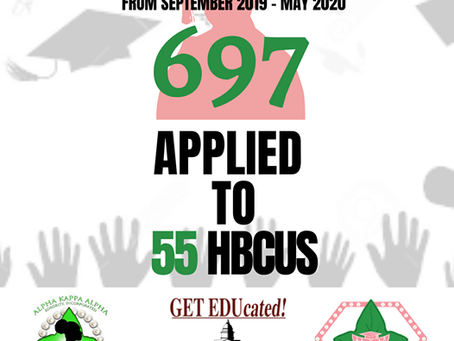 697 STUDENTS APPLYING TO OUR VALUED HBCU COLLEGES AND UNIVERSITIES