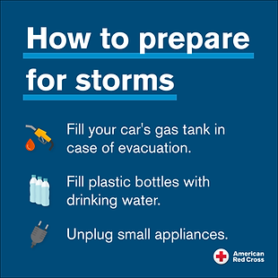 How To Prepare For A Storm-American Red
