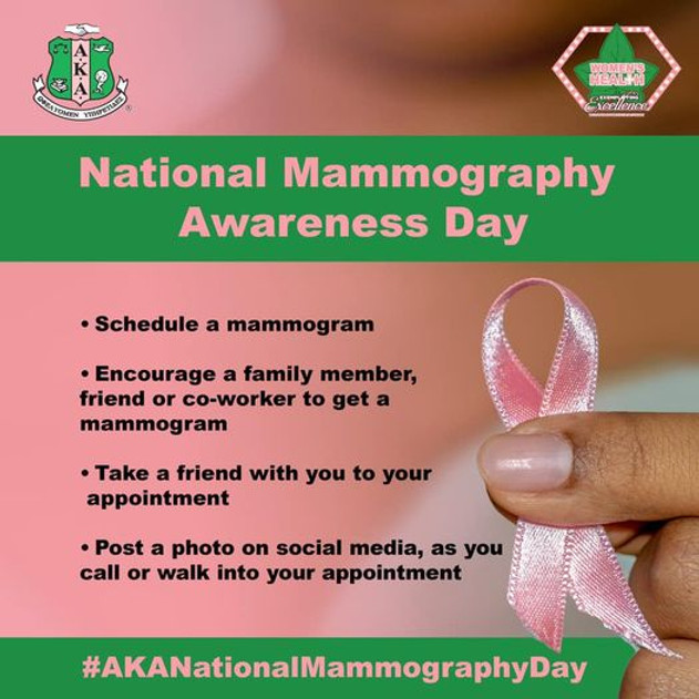 HAVE YOU SCHEDULED YOUR MAMOGRAM TODAY?
