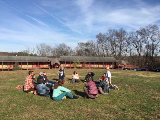 Meditation circle at FBEN 2019 Conference
