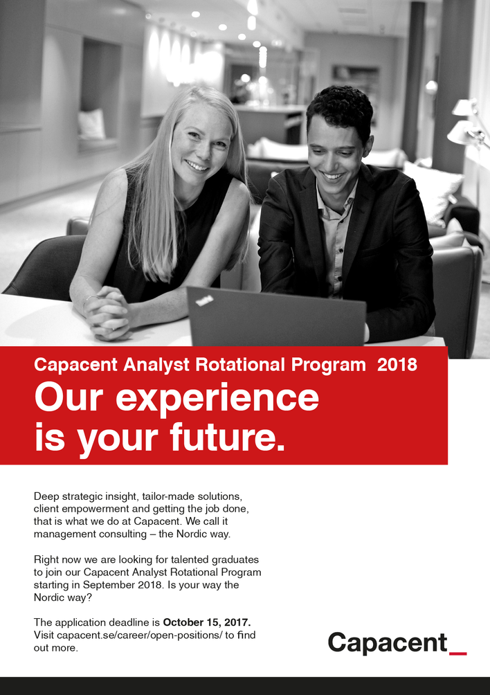 Capacent seeks analysts