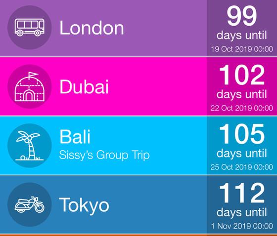 I'm going around the world!