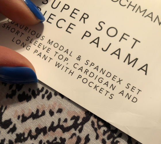 Today, I purchased pajamas.