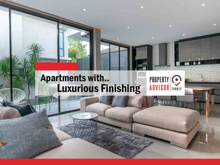 apartments with luxurious finishing