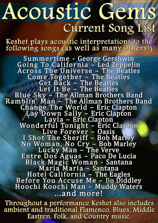 Keshet Acoustic Gems Professional Musician Session Guitarist Arranger Producer Sound Engineer Perth