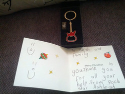 A 'Thank You' card and gift