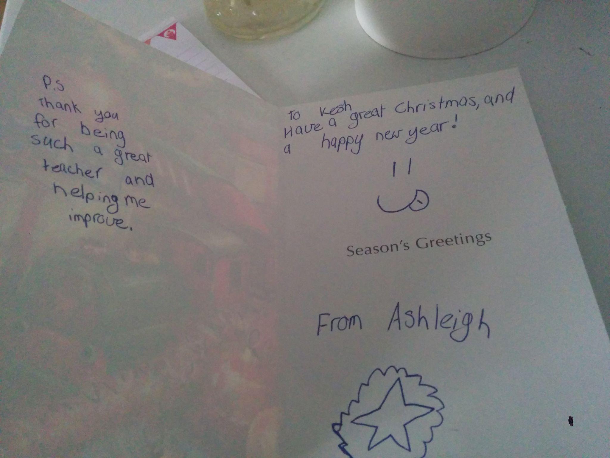 A 'Thank You' card