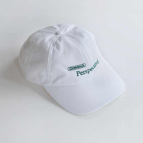 Perspective™ White Cotton Strap Closure Hat