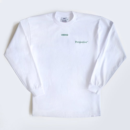 Perspective™ White Long Sleeve Tee
